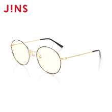 JINS eye posture lady anti blue light radiation goggles 18 new metal round frame FPC18A102