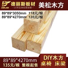 Необработанная древесина De Lisi 89*89mm