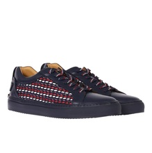 Low quality goods bought Buscemi man color woven leather shoes locks for 118 sm057kb800fi00