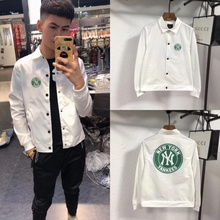 Korean version Multi Pocket Lapel fit spirit youth spring and autumn solid color jacket