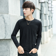 Autumn and winter cotton trend men's solid color with loose base coat