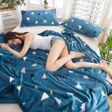 Winter flannel blanket bed sheet single piece crystal suede coral double side Plush milk flannel quilt single