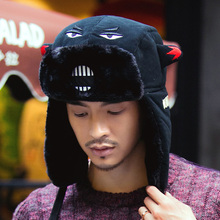 Lei Feng hat men's and women's Korean fashion winter warm ear protection hat lovely outdoor skiing cartoon thickened northeast hat