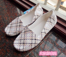 Printed plastic low heel sandals in summer and Autumn