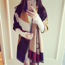 2016 ladies new autumn winter scarf cashmere dual padded long double Joker colour matching cloak