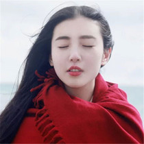 Bride red dress female long thick cotton wool cashmere scarf national wind in autumn and winter shawls dual-use
