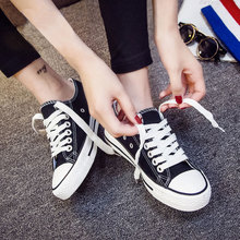 Autumn and winter new small white canvas Korean student shoes