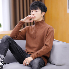 New high collar loose and thickened autumn sweater