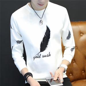 长袖T恤男秋季韩版圆领体恤青少年男装薄款打底衫上衣服学生秋衣男装
