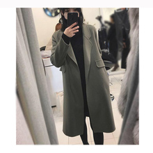 New double faced cashmere Hepburn overcoat in autumn and winter of South Korea