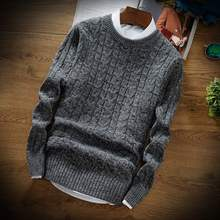 Autumn and winter men's casual Pullover T-shirt