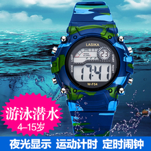 Children watches, boys and girls, waterproof student night luminous sports electronic tables, boys, numbers, boys, boys and girls.