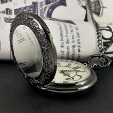 Roman pocket watch boy student girl necklace watch retro fold electronic quartz mechanical pendant simple personality waterproof