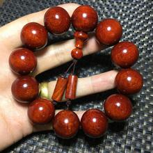 Dimu craft small leaf red sandalwood Hainan yellow flower pear old sandalwood Bracelet ornament customization