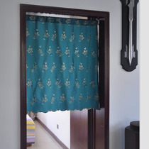 New embroidery fabric curtains curtains-bedroom living room kitchen bathroom Feng Shui cut off shade semi-shade cover towel