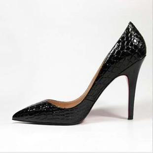 2014春秋新款韩版气质女单鞋尖头高跟鞋英伦夜店细跟OL中跟鞋子女