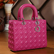 Europe and the United States 2014 new major suit Diana ss bag bag made of rhombic sha Fion Shoulder leather handbag