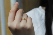 Thousands of gold 999 gold 0 words soft ring plus 1 transport bead elegant ring tail ring