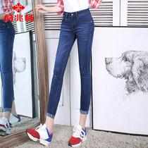 Yuzhaolin stretch nine tall waist tight pencil pants