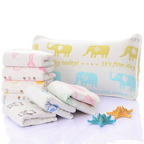 Six baby pillowcase cotton gauze no fluorescence agents with direct contact to skin mother assured new