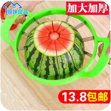 Фрукторезка 切西瓜神器 不锈钢加厚特大号水果分割器哈密瓜苹果去核切片器