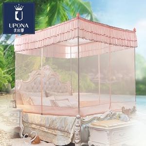 优帛娜坐床式蚊帐2米.2.2米床三开门1.8m床 双人 夏季家用1.5m床蚊帐