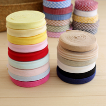 Iron free cotton stretch knit package wrapping cloth belt sewing clothing material elasticity