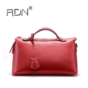 FLDN first layer of leather Boston bag Shoulder Messenger portable pillow pack with three European and American wild Girls leather bag