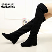 2014 winter boots female shoes boots knee boots boots high heeled boots in increased single boots shoes