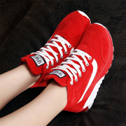 Autumn and winter flat shoes shoes shoes Korean running shoes with velvet Agam student travel shoes sports shoes