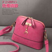 The bag 2014 new winter fashionable oblique cross bag small bag bag shell package matte leather women's singles