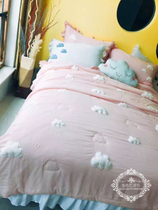 BAA stereo lovely soft clouds are cool in summer and summer quilt modal is super flexible air conditioning is available pillowcase