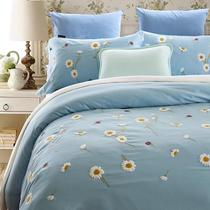 Original quality stereo 60 satin cotton embroidery with wool embroidered cloth four set 1.5 1.8 beds