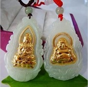 special offer free ship Saturday blessing couple thousand gold Guanyin Buddha pendant 24K gold halo with a certifie gifts to share