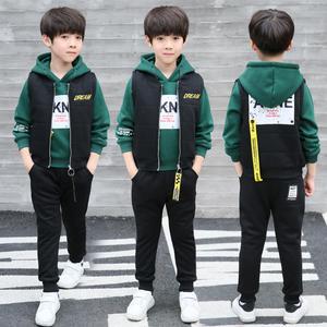6儿童装男童秋冬装套装2017新款8中大童10男孩12加厚三件套15岁潮儿童套装