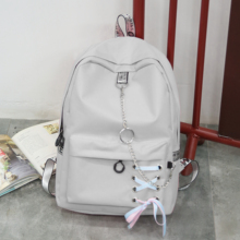 Simple Shoulder Bag for Male and Female Middle School Students in Korean Edition High Capacity Travel Backpack College Wind Computer Bag Leisure Bag