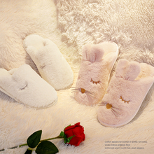 Cotton slippers 2018 new winter couples, indoor, cute, warm, thick bottom, hair slippers, men's winter.