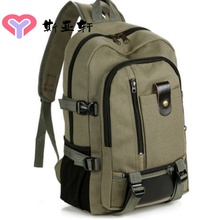 New Special Canvas, Large Capacity Men's Shoulder Bag Travel Backpack Fashion Men's Middle School Students'Baggage Postal