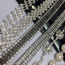 DIY pattern multi-row claw drill chain hand sewing water drill decorative wedding dress accessories hair accessories Bracelet material
