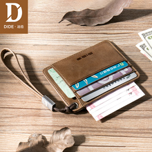 De card bag, male leather, multi card, credit card, cowhide, super thin card pack, driving license set, Mini Wallet.