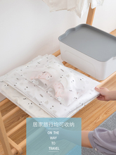 Travel storage bag set waterproof suitcase clothing shoes sorting sub pack storage bag transparent frosted sealed bag
