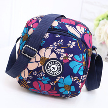 Canvas Messenger Bag Oxford small flowered cloth small bag women's bag nylon new mother's bag cloth middle-aged and old people's light shoulder bag