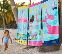 PBK* beautiful cotton childrens bath towels beach towels velour printed towels 80X160 (girl)