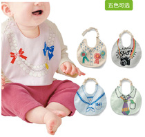 Cute little bibs cotton two-layer simulation print snap adjustable little bibs saliva towels hanging neck bandage