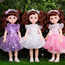 Talking intelligent Deborah Barbie doll suit simulation girl child large Princess toy single cloth