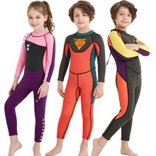大きな男の子の冬厚い暖かい子供の水着長袖のズボンは少年少女の専門の訓練の水着を結合