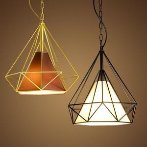 北欧复古铁艺创意吊灯loft酒吧台客厅西餐厅简约个性过道钻石吊灯复古吊灯