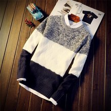 New style wool sweater with round neck and slim body
