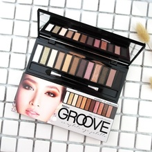 Mistine Thailand 12 colors, eye shadow, make-up box, smoked, nude makeup, pearlescent, matte, and durable.