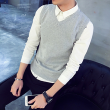 Pure Cotton autumn and winter V-Neck Sweater in solid color